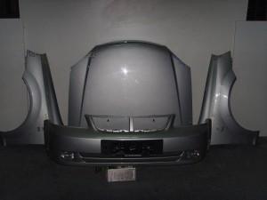 Chevrolet Nubira 2003-2005 μετώπη-μύρη εμπρός κομπλέ ασημί