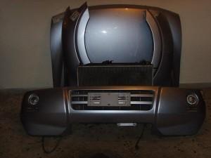 Mitsubishi Pajero 5θυρο 2001-2007 μετώπη εμπρός κομπλέ ασημί