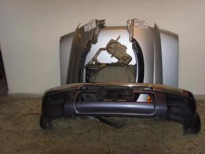 Nissan Navara D22 1997-2001 μετώπη-μούρη εμπρός κομπλέ ασημί