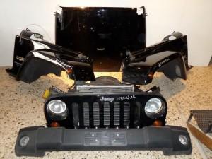 Jeep wrangler 2007-2010 μετώπη-μούρη εμπρός κομπλέ μαύρο