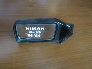 Nissan Sunny N13 1986-1989 μηχανικός καθρέπτης αριστερός άβαφος