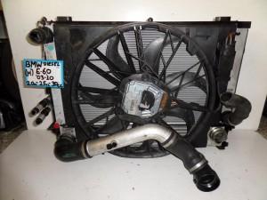 BMW Series 5 E60/E61 2003-2010 2.0-2.5-3.0cc diesel ψυγείο κομπλέ (νερού-air condition-βεντιλατέρ-λαδιού-intercooler)