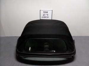 BMW Z4 E85 2003-2006 κουκούλα ουρανού με τζάμι μαύρη