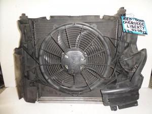 Cherokee liberty 2002-2008 2.4cc-3.7cc βενζίνη ψυγείο κομπλέ (νερού-aircondition-βεντιλατέρ-intercooler)