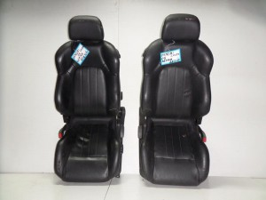 Hyundai coupe 2001-2008 κάθισμα εμπρός με airbag αριστερό-δεξί μαύρο (δερμάτινα)