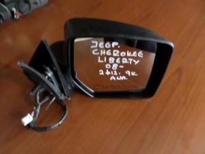 Jeep Cherokee 2008-2013 ηλεκτρικός ανακλινόμενος καθρέπτης δεξιός άβαφος (9 καλώδια-2φις)