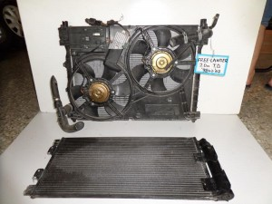 Land rover freelander 98-07 2.0cc diesel ψυγείο κομπλέ (νερού-air condition-βεντιλατέρ)