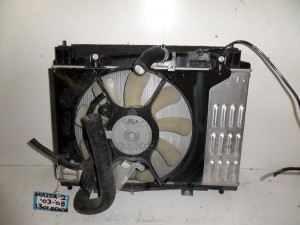 Mazda 2 2003-2007 1.3cc βενζίνη ψυγείο κομπλέ (νερού-βεντιλατέρ)