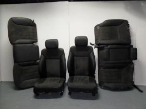 Mercedes ML 164 2005-2011 σέτ καθίσματα με airbag εμπρός-πίσω μαύρο-γκρί