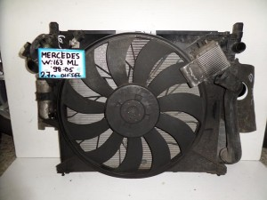 Mercedes Ml w163 1998-2005 2.7cc diesel ψυγείο κομπλέ (νερού-air condition-βεντιλατέρ-intercooler)