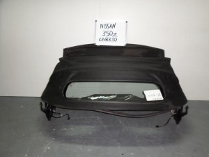 Nissan 350z 2003-2009 κουκούλα ουρανού με τζάμι μαύρη με μοτέρ