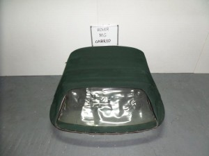 Rover MG Cabrio 1995-2006 κουκούλα ουρανού με πλαστικό πράσινη