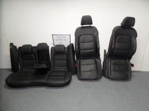 Skoda superb 08 σέτ καθίσματα με airbag εμπρός-πίσω γκρί (δερμάτινα-ηλεκτρικά)
