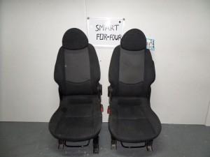 Smart forfour κάθισμα με airbag εμπρός αριστερό-δεξί μαύρα με γκρί σκούρο