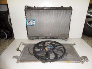 SsangYong musso 1998-2005 2.9cc diesel ψυγείο κομπλέ (νερού-aircondition-βεντιλατέρ)