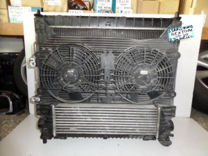 SsangYong rexton 2001-2012 2.9cc diesel ψυγείο κομπλέ (νερού-aircondition-βεντιλατέρ-intercooler)