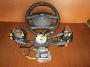 Lancia Musa 2008-2012 σέτ airbag γκρί σκούρο