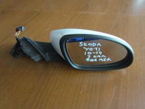 Skoda Yeti 10-14 ηλεκτρικός καθρέφτης δεξιός λευκός (7 καλώδια-φώς ασφαλείας)