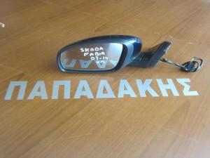 Skoda fabia 2007-2014 ηλεκτρικός καθρέφτης αριστερός μπλέ πετρόλ