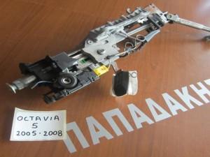 Skoda octavia 5 2005-2008 άξονας τιμονιού με διακόπτη μίζας