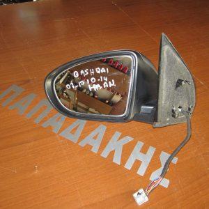 Nissan Qashqai 2006-1013 καθρέπτης αριστερός ηλεκτρικός ανακλινόμενος ασημί σκούρο