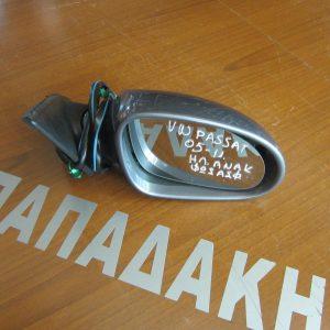VW Passat 2005-2011 καθρέπτης δεξιός ηλεκτρικός ανακλινόμενος με φως ασφαλείας γκρι