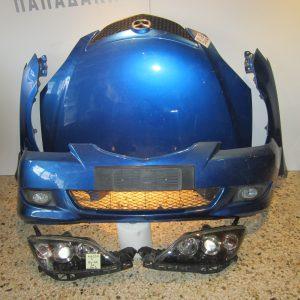 Mazda 3 2004-2007  5θυρο μπλε μουρη-μετωπη(καπω-2φτερα-2φαναρια-προφυλαχτηρας)
