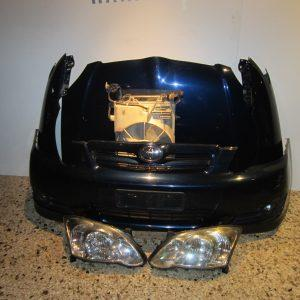 Μετωπη-μουρη εμπρος κομπλε Toyota Corolla τριθυρο-πενταθυρο 2004-2006  μπλε (καπο-2 φτερα-ψυγεια κομπλε-2 φαναρια-προφυλαχτηρας-μασκα-τραβερσα- προφυλαχτηρας)