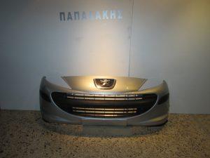 Peugeot 207 2006-2010 προφυλακτήρας εμπρός ασημί