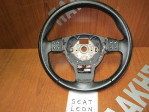 Seat Leon 2005-2009 βολάν τιμονιού δερμα