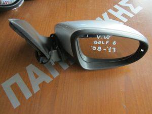 VW Golf-6 2008-2013 καθρεπτης δεξιος ηλεκτρικος ασημι
