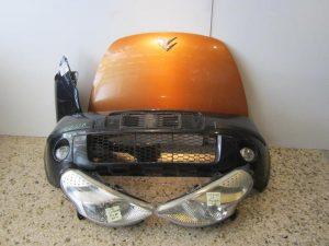Citroen C3 Pluriel 2003-2010 μούρη κομπλέ: (καπώ-2 φανάρια-1 φτερό δεξιό-προφυλακτήρας με προβολείς-μετώπη-τραβέρσα προφυλακτήρα)