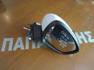 Citroen C4 2011-2017 καθρέπτης δεξιός ηλεκτρικά ανακλινόμενος άσπρος (φως ασφαλείας)