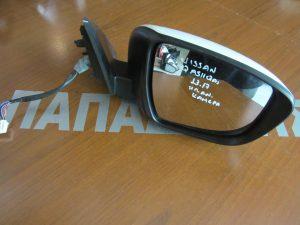 Nissan Qashqai 2013-2017 καθρέπτης δεξιός ηλεκτρικά ανακλινόμενος άσπρος (κάμερα)