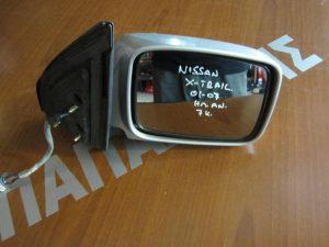 Nissan X-Trail 2001-2007 καθρέπτης δεξιός ηλεκτρικά ανακλινόμενος ασημί