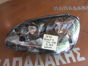 VW Golf 5 2004-2008 φανάρι εμπρός αριστερό μαύρο φόντο (IM)