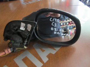 Citroen C3 2002-2009 δεξιός καθρεπτης ηλετρικά ανακλινόμενος μαύρος