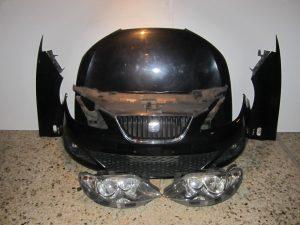 Seat Ibiza 2008-2012 μούρη μαύρο: καπό- 2 φτερά- 2 φανάρια- μετώπη κομπλέ- ψυγεία κομπλέ βενζίνα- προφυλακτήρας κομπλέ
