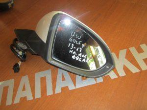 VW Golf 7 2013-2017 δεξιός ηλεκτρικά ανακλινόμενος καθρέπτης άσπρος φως ασφαλείας