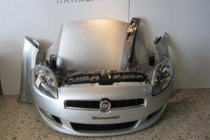 Fiat Bravo 2007-2014 μετώπη-μούρη εμπρός ασημί: καπό- 2 φτερά- 2 φανάρια- προφυλακτήρας κομπλέ- μετώπη με ψυγεία κομπλέ- αντικραδασμικό