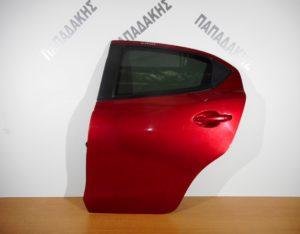 Mazda 2 2014-2018 πόρτα πίσω αριστερή κόκκινη