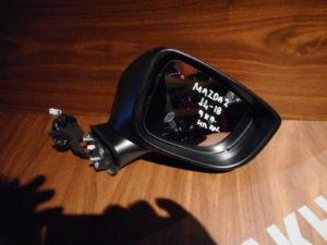 Mazda 2 2014-2018 δεξιός ηλεκτρικά ανακλινόμενος καθρέπτης γκρι 9 καλώδια