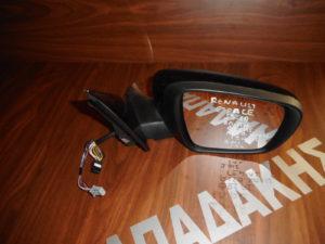 Renault Espace 2015-2018 δεξιός καθρέπτης ηλεκτρικά ανακλινόμενος μαύρος 19 καλώδια 2 φις φως ασφαλείας αισθητήρες κλειστής γωνίας