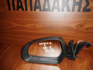 Skoda Octavia 5 2008-2013 αριστερός καθρέπτης ηλεκτρικός άβαφος 9 καλώδια φως ασφαλείας