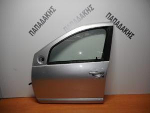 Dacia Sandero 2007-2012 πόρτα εμπρός αριστερή ασημί