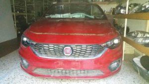 Fiat Tipo 2016-2018 μετόπη-μούρη εμπρός κομπλέ κόκκινο:Καπό-2 φτερά-2 φανάρια-μετόπη με ψυγεία diesel-προφυλακτήρα κομπλέ-τραβέρσα προφυλακτήρος εμπρός.