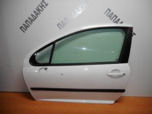 Peugeot 207 2006-2012 πόρτα αριστερή δύθυρη άσπρη