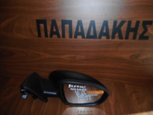 Renault Megane 2016-2019 ηλεκτρικά ανακλινόμενος δεξιός καθρέπτης μαύρος 15 καλώδια 2 φις αισθητήρες κλειστής γωνίας φως ασφαλείας
