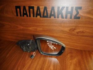 Skoda Octavia 6 2013-2019 ηλεκτρικά ανακλινόμενος καθρέπτης δεξιός γκρι 9 καλώδια φως ασφαλείας