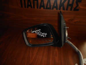 Nissan Navara D40 2005-2014 ηλεκτρικά ανακλινόμενος καθρέπτης αριστερός νίκελ 8 καλώδια με φλας φως ασφαλείας
